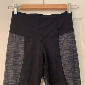 Lululemon slight flare two coloured leggings